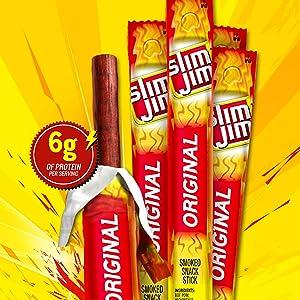 Slim Jim Giant Smoked Snacks, Original, 0.97-Ounce Sticks (Pack of 24)