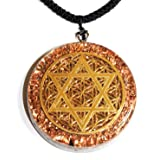 Star of David & Flower of Life Orgone Pendant Generator Energy Accumulator EMF protection 2.25 inch