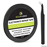 Eco-Fused Adhesive Sticker Tape for Use in Cell Phone Repair - 2mm Tape - also including 1 Pair of Tweezers/Eco-Fused Microfiber Cleaning Cloth (black) (Color: Double Sided Adhesive Tape, Tamaño: 1 roll: 0.08 x 55 yard (Black))