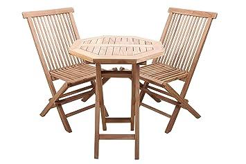 point-garden-Set mobili da giardino mobili da giardino Set da giardino in teak tavolo + 2sedie