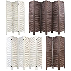 Hartleys Wooden Slat Folding Room Divider   Cream   6 Panel       Customer review and more information