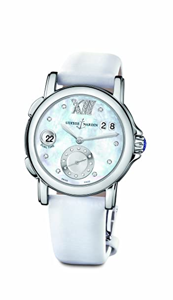 Ulysse Nardin Dual Lady Diamond Mother-of-pearl White Ladies Watch 243-22-391