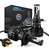 JDM ASTAR Newest Version T1 10000 Lumens Extremely Bright High Power H4 9003 All-in-One LED Headlight Bulbs Conversion Kit, Xenon White (Tamaño: H4/9003)