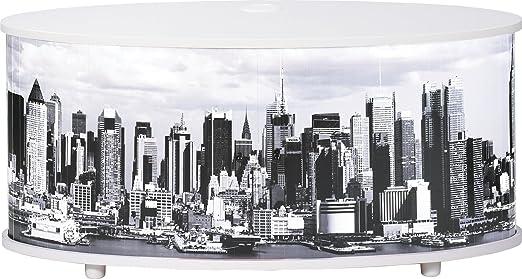 Simmob print110bl508New York Mobile TV pannello/legno nobilitato bianco 50,8x 110,4x 45,4cm