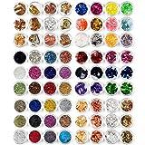 editTime Nail Art Decals Kit - Nail Art Pailette Foil Sticker Candy Colors Flakes Ice Mylar Shell Foil Slice Ultra-thin Nail Stripe Line Irregular Nail Beads Rhinestones Stone Metal Studs