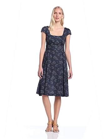 Great Plains Women's Oh Deer! Tea Dress, Navy/Sparrow, Size 8 (Label Size: X-Small)