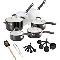 Guy Fieri 21-Piece Ceramic Nonstick Cookware Set