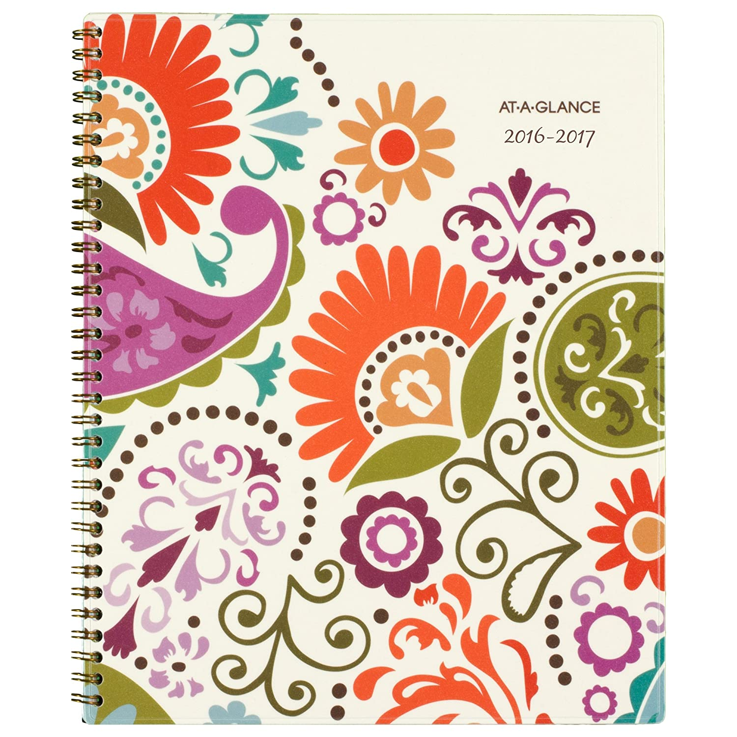 "At-A-Glance Academic Weekly / Monthly Planner, July 2016 - June 2017, Garden Party, 8.5 x 11"" (150-905A)"