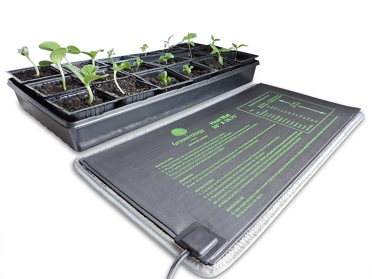 Growerology Seedling Heat Mat for Seed Germination, Cloning and Plant Propagation - BONUS Insulation Underlayment