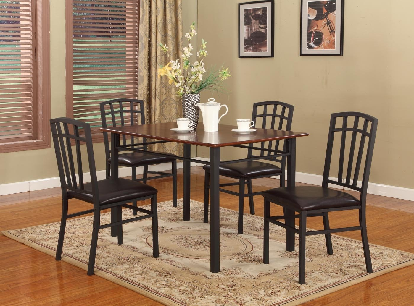 metal dining room sets | Simple assembly required.