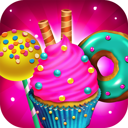 Candy Dessert Bakery Shop - Make, Bake & Cook Donuts, Cake Pops, Cupcakes, Cookies, Popsicles, Ice Cream, Cakes! Kids Candy Kitchen Cooking Food Maker Restaurant Game (Ice Cream Cake Food compare prices)