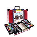 Mobee 97-Piece Artist Box Art Set with Aluminum Case, Kids Art Suppliers for Painting and Drawing Pencil Crayon Set Art Kit