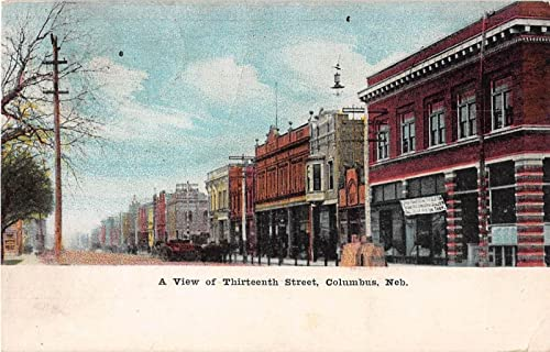 Thirteenth Street in Columbus, Nebraska