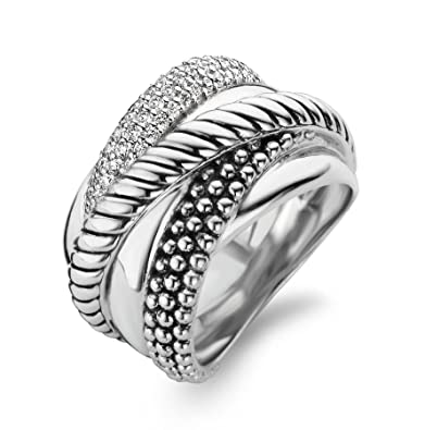 Ti Sento Women's Ring Sterling Silver Ring - Size 56 - 12003zi/56