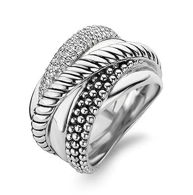 Ti Sento Women's Ring Silver Ring-Size 12003zi/60-60
