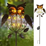 TAKE ME Garden Solar Lights Outdoor,Solar Powered Stake Lights - Metal OWL LED Decorative Garden Lights for Walkway,Pathway,Yard,Lawn (Multicolor) (Multicolor) (Color: Multicolor)