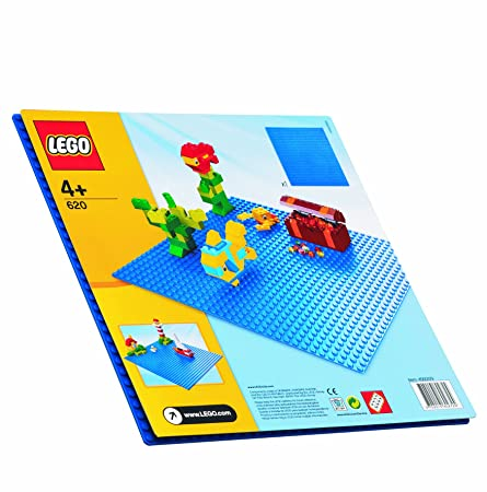 LEGO - 620 - Jeu de Construction - Bricks & More LEGO - Plaque de Base - Bleue