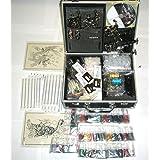 Professional 6 Guns Tattoo Kit LCD Digital Power Supply Needles 40 Colors 10ml Inks (G7)