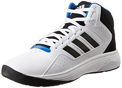 adidas neo Men's Cloudfoam Ilation Mid White, Black and Matte Silver Basketball Shoes 7