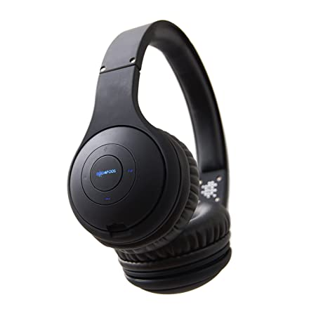 Boompods Wireless Headpods Foldable Soft Touch Headphones - Black