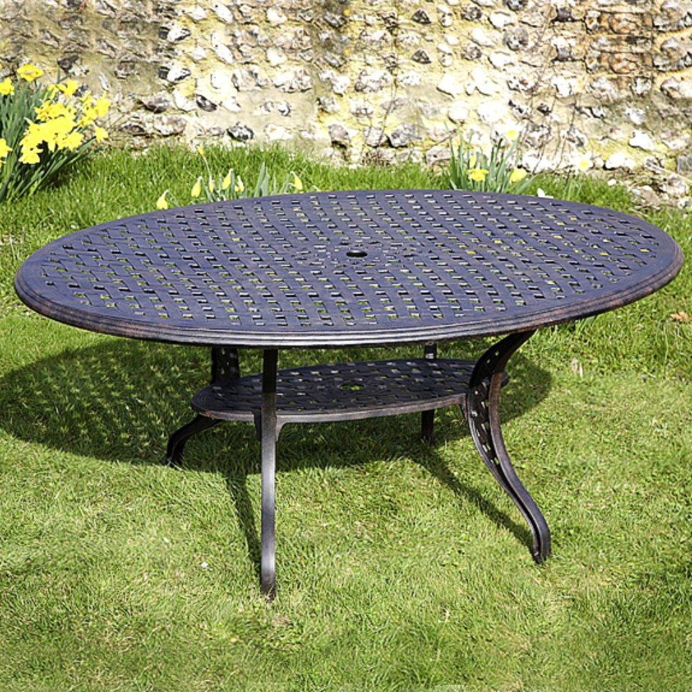 Gartenmöbelset Nicole 180cm Aluminium Gartengarnitur - 1 NICOLE Tisch + 6 EMMA SA Stühle