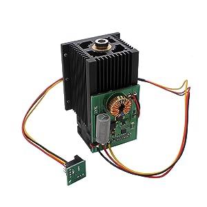 SUNWIN 2.8W 5.5W 6.5W Laser Head Blue Light Module 450nm For Engraving Cutting Machine (3W) (Color: Black, Tamaño: 2.8W)
