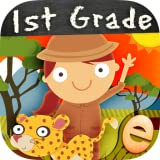 Animal First Grade Math Games for Kids with Skills: The Best Kindergarten, 1st and 2nd Grade Numbers, Counting, Addition and Subtraction Activity Games for Boys and Girls