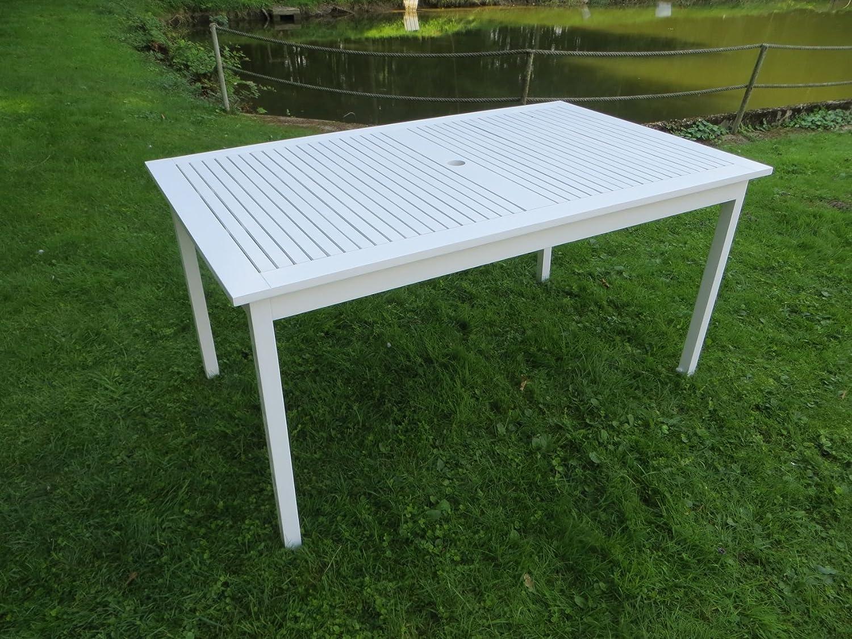 """Gartentisch """"Kadina 150 x 90"""" aus hochwertigem Akazienholz, weiß lackiert, 100% FSC günstig kaufen"""