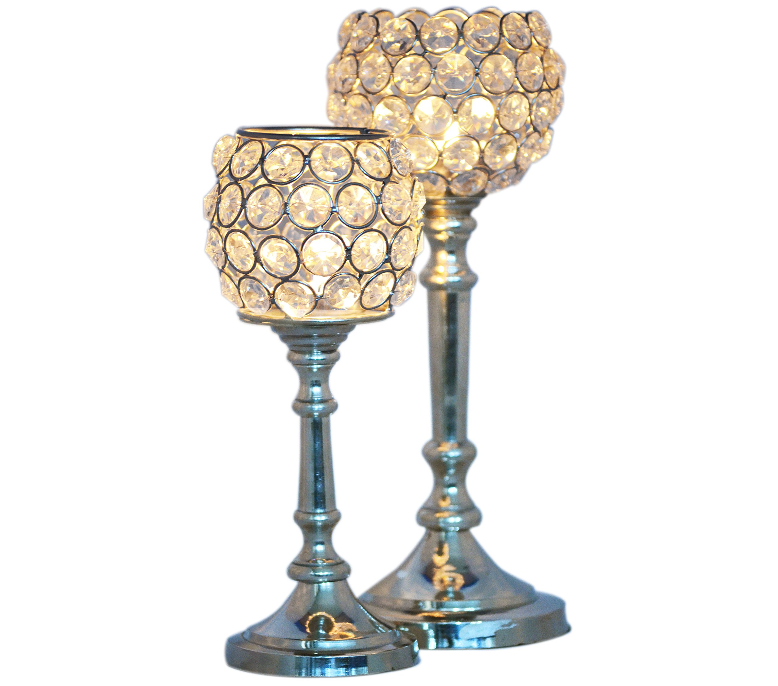 Crystal Tea Light candle holder for table centerpieces is the representative of practical crystal craft.