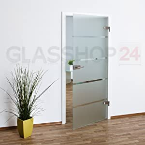 Glastür Ganzglastür T6   834x1972mm   DIN Rechts // kostenloser Versand  BaumarktBewertungen und Beschreibung