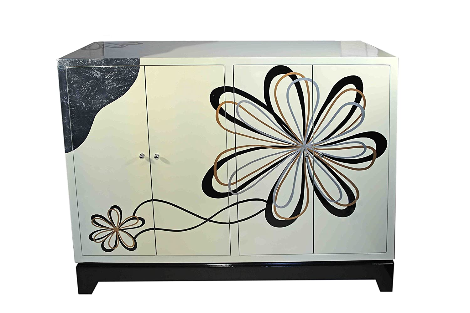 Casa Collection / Art for living by Jänig 11469 Sideboard Modern Flower, 4-türig, 102 x 122 x 45