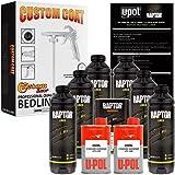 U-POL Raptor Black Urethane Spray-On Truck Bed Liner Kit w/FREE Custom Coat Spray Gun with Regulator, 6 Liters