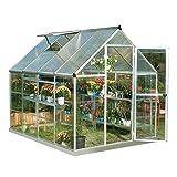 Palram HG5508 Hybrid Greenhouse, 6' x 8' x 7', Silver