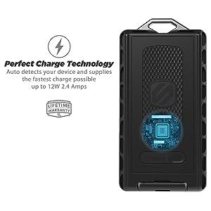 SCOSCHE RPB6 GoBat Rugged 12W USB 6000 mAh Portable Battery Pack (Color: Black, Tamaño: 6000 mAh)