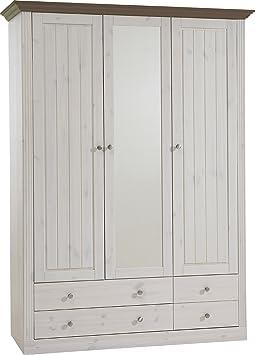 Steens Furniture Monaco 112/69 Kleiderschrank, weiß / grau