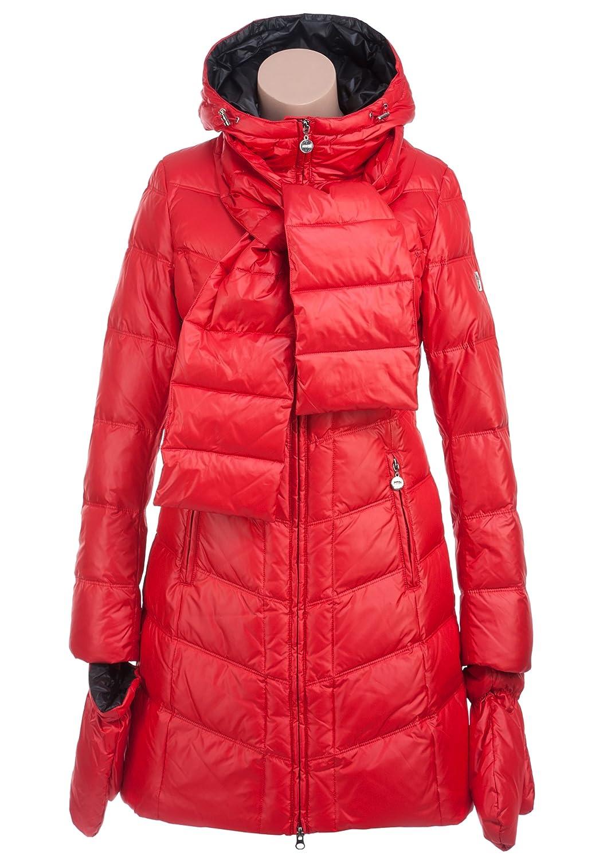 MISS SUN M507 Damen Daunenmantel mit Kapuze und Handschuhe Gr.34-42 rot jetzt bestellen