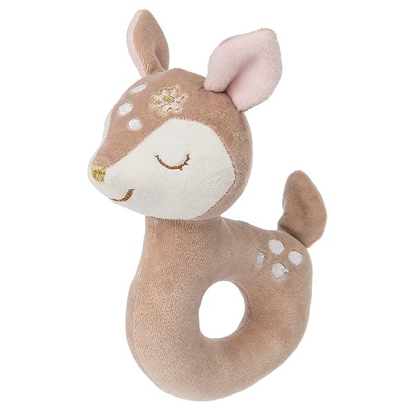 WubbaNub Itsy Glitzy Fox Pink Infant Pacifier Stuffed Animal By Mary Meryer
