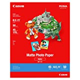 Canon 7981A004 Photo Paper Plus, Matte, 8-1/2 x 11 (Pack of 50 Sheets) (Color: White, Tamaño: 0.71 foot X 0.92 foot)