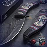 New Cool 8.5-Inch Native American Spring-Assisted Folding Pro Tactical Elite Knife Indian Sharp Blade for Home Camping Hunting Rescue + free Ebook by ProTactical