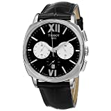 Tissot Men's 'T Lord' Black Dial Black Leather Strap Chronograph Automatic Watch T059.527.16.058.00 (Color: black)