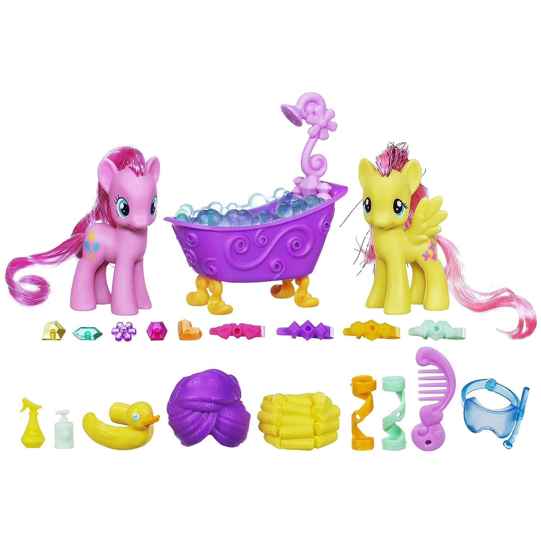 My Little Pony Kristall Königreich – Prinzessinnen Spielset A1699 – Pinkie Pie und Fluttershy im Kristall Glitzer Bad kaufen