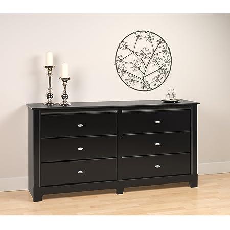 Prepac Black Kallisto 6 Drawer Dresser
