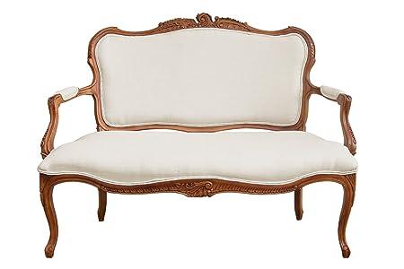 Valentina contemporáneo sofá, madera maciza, color crema (dp_2402637)