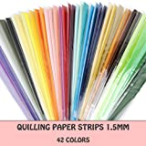 IMISNO Quilling Paper Strips Set - Width 1.5mm,42 Colors,5040 Strips Total (Color: mixed colors, Tamaño: 1.5mm*39cm)