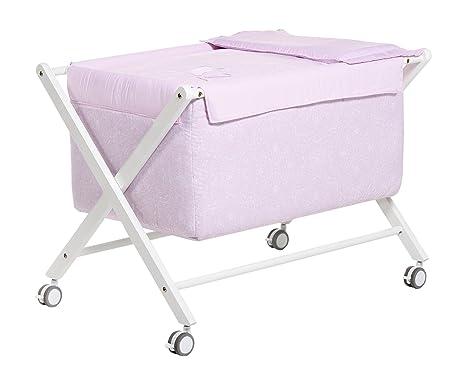 Alondra-Minicuna per bambino in completa, con vestidura rosa