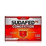 Sudafed PE Congestion and Sinus Pressure Relief, Maximum Strength Nasal Decongestant, 36 ct (Tamaño: 36 Count)