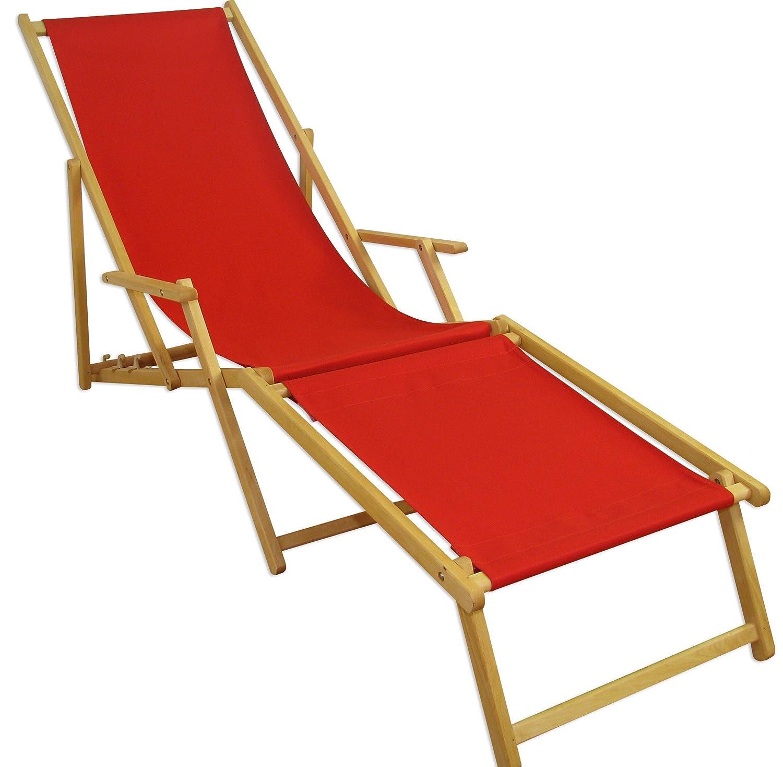 Sonnenliege Gartenliege Deckchair Saunaliege inkl. abnehmbarem Fußteil kaufen