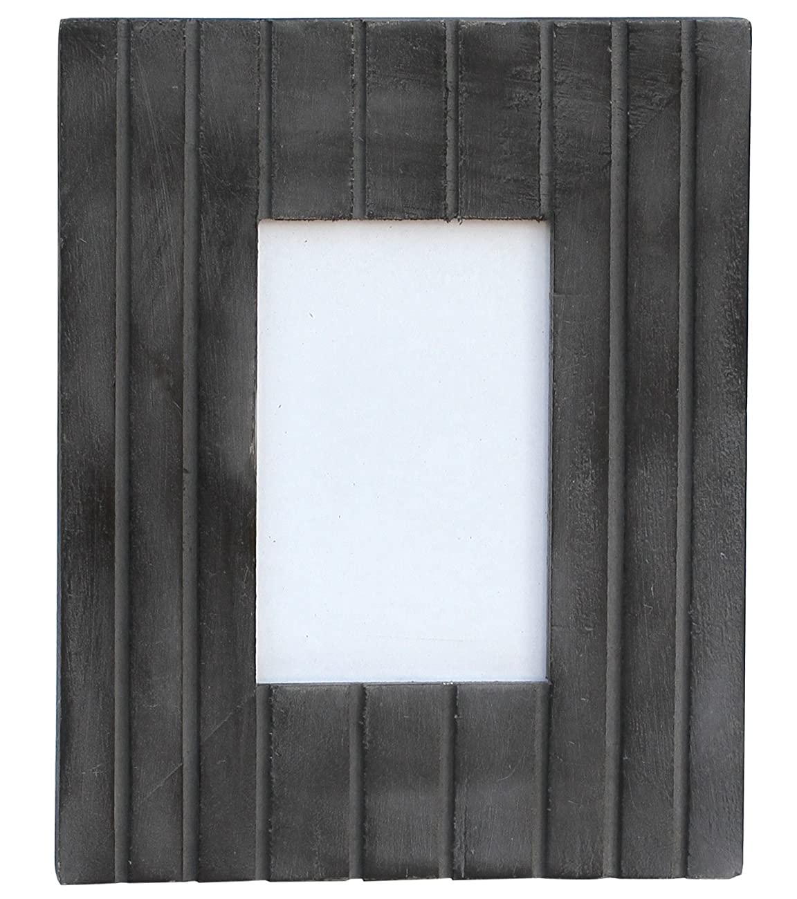 NEW YEAR GIFT - Photo Picture Frame - Handmade 4x6 Coal Black Wooden Vintage Look Frame with Stand for Horizontal & Vertical Pictures - Home Decor / Table-top / Living Room Decorative Accessories 2