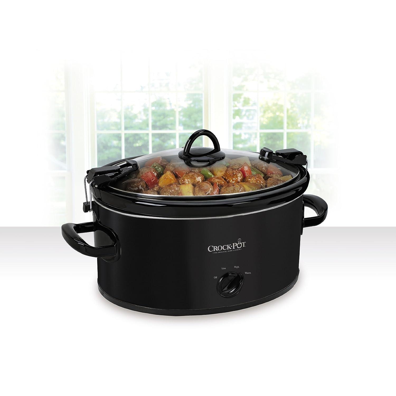 best slow cookers crock pot sccpvl600 b cook 39 n carry oval manual slow cooker 6 quart black. Black Bedroom Furniture Sets. Home Design Ideas