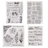 Friendly Phrases Pretty Patterns Silicone Clear Stamps for Card Making Decoration and Scrapbooking(Friendship) (Color: Friendly)